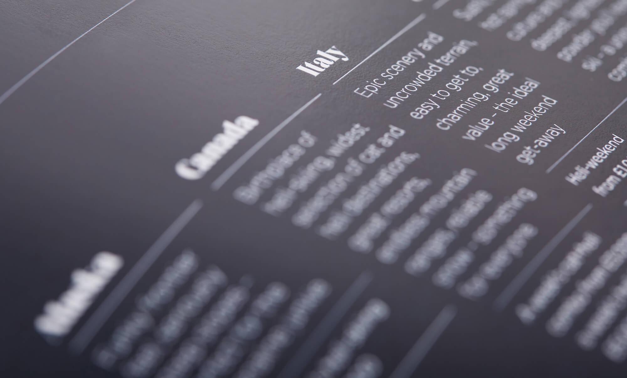 Brochure spread - detail